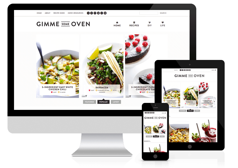 Gimme Some Oven - example of responsive blog design.