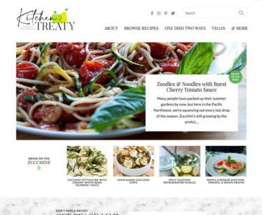 Kitchen Treaty homepage screenshot