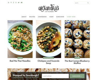 AlexandraCooks Homepage Screenshot