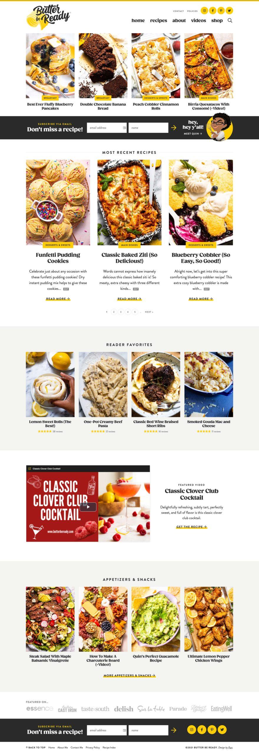 Butter be Ready homepage screenshot