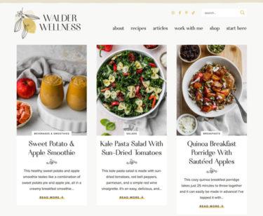 Walder Wellness homepage screenshot