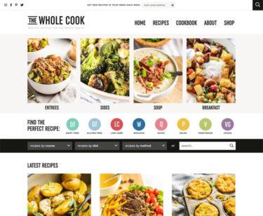 The Whole Cook homepage screenshot